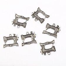 10pcs Tibetan Dark Silver Charms singer sewing  machine Pendant fit Bracelet