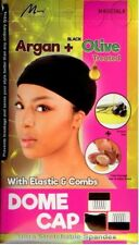 Murry SPANDEX DOME WIG CAP with 3 Combs with ARGAN + OLIVE TREATED M4003BLK