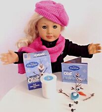 """Frozen Olaf Melting Snowman Kit for American Girl Doll 18"""" Accessories SET"""