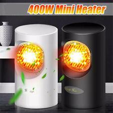 Mini 400W Electric Desk Heater Portable Heating Hot Air Fan Home Office Warmer