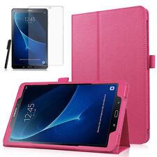 Samsung Galaxy Tab A 10.1 T580/T585 A6 Leder-Imitat Case Etui +Pen +Folie Pink-2