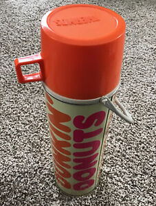 Vintage Dunkin' Donuts Metal Thermos Division King Seeley Metal With Handle