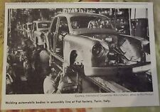 1962 Welding automobile Bodies in assembly line at Fiat Factory,Turin ITALIE
