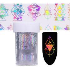 4*100cm Holographic Nail Foils Geometric Nail Art Transfer Stickers Manicure DIY