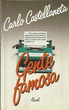 Gente famosa Castellaneta Carlo 1986 I edizione Rizzoli