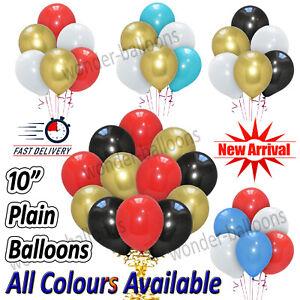 "30 X Latex PLAIN BALOON METALLIC helium BALLOONS 10"" inch Party Birthday Wedding"