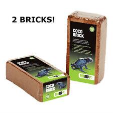 2 x Pro Rep Coco BRICK 650g si espande 800% - Tartaruga Biancheria Da Letto/substrato naturale