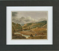 Framed 1873 Watercolour - On The Wye