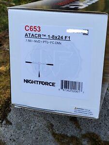 Nightforce ATACR 1-8x24 Riflescope C653 Factory new / sealed