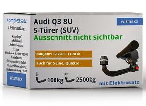WESTFALIA ANHÄNGERKUPPLUNG abnehmbar für Audi Q3 8U + 13-pol E-Satz spezifisch
