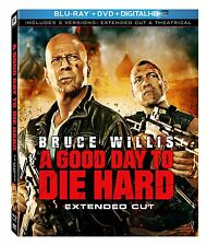 New, A Good Day to Die Hard, Extended Cut, Blu-ray + Digital HD UV Free Shipping