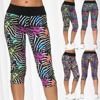 Pantalon court Capri sport Treggings 7/8 Fitness Rayures courtes Gym Vêtements