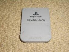 SONY PLAYSTATION 1 PS1 OFFICIAL MEMORY CARD 1 MB 1MB Grey Genuine PSX PSone Mem