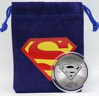 Superman 2016 Coin $5 Shield 1 oz Silver Canada 9999 Fine Coin DC Comics - JC180