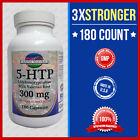 5-HTP 300mg Max 3x Stronger w/Val Root 180 Caps Weight Loss Mood Serotonin - USA