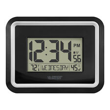Bbb84022 La Crosse Technology Atomic Digital Wall Clock with In Temp & Humidity