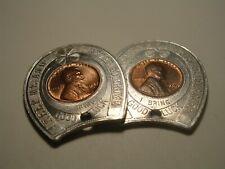 2 Encased Coins 1947 Tappan New York Mason Lodge Masonic