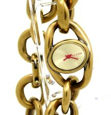Nixon A161-472 Alice Women's Antiqued Gold Tone Bangle Analog Thick Heavy Watch