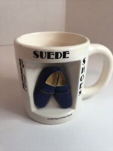 Elvis Presley Ceramic Blue Suede Shoes Coffee Cup Mug Signature Product EPE