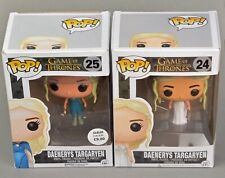 Funko Pop Vinyl Figures  Daenerys Targagyen Game of Thrones  #24 and 25