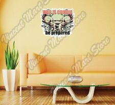 """War Is Coming Nuclear Bomb Skull Gift Wall Sticker Room Interior Decor 25""""X20"""""""