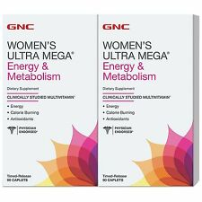 GNC Women's Ultra Mega MultiVitamin Energy & Metabolism,180 CAPLETS