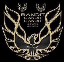 1970-1981 Trans Am Firebird Bandit decal set 44x48 hood bird gold black