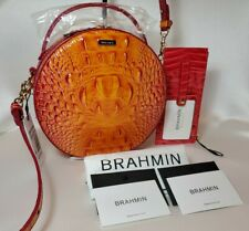 ❤️ BRAHMIN PASSION FRUIT LANE + CREDIT CARD WALLET in RIBBON  2 Pieces  NWT ❤️