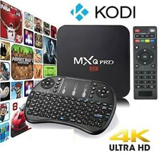 ♛ Kodi 17.6, MXQ Pro, 4K & 3D Android TV, Spectrum Edition! w/Back lit Keyboard