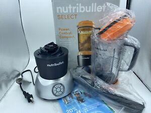Nutribullet Select 1000 Watt Blender 32oz Hot or Cold Foods Orange Minor Scratch