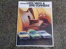 1977 HOLDEN HZ UTES,VANS AND ONE-TONERS BROCHURE. 100% GUARANTEE.