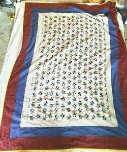 Disney Mickey Mouse Star Quilt Comforter Handmade Twin