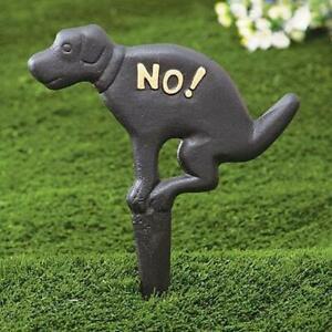 RUSTIC NO DOG POOPING POOP  SIGN FOR LAWN YARD STAKE PET WASTE PEE CLEAN UP