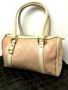 GUCCI Handbag GG Monogram Pink Mini boston Purse Auth