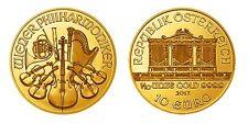 1/10 Unze Gold Wiener Philharmoniker Feingold Münze Österreich Goldmünze Sammler