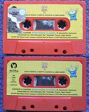 TOY STORY 2 audiocassetta 1999,walt disney,con canzone woody raduna la mandria#d