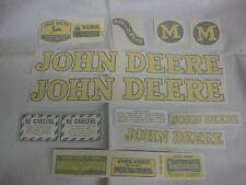 John Deere M Styled 1947-1952 Decal Set -  Vinyl Cut