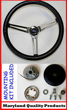 Ford Falcon Thunderbird Galaxie Torino GRANT Black Steering Wheel 15""