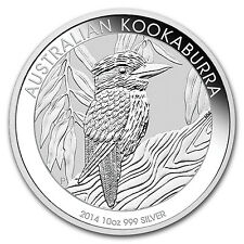 2014 Australia 10 oz Silver Kookaburra BU - SKU #78050