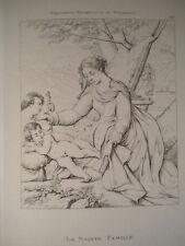 M Santa Famiglia Vergine Gesù Parmigianino 1868 acquafort