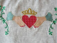 Exquisite Claddagh Embroidered T-Shirt XL