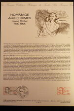 FRANCE MUSEE POSTAL FDC 12-86   LOUISE MICHEL   1,80F   PARIS    1986