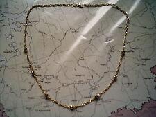 gedrehte Kette mit Kugeln Gold 333 50 cm, Kugelkette Singapur Collier Gold 333