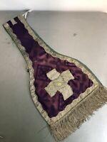 Étole de Prêtre Religieux Vêtements Liturgique Ancien Habit Écharpe 1