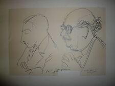JACQUEMIN André Dessin au crayon signé Reims et Bar le Duc  Le Puy en Valet