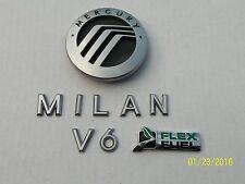 06 07 08 09 MERCURY MILAN V6 REAR EMBLEM LOGO BADGE SIGN SYMBOL NAME OEM SET