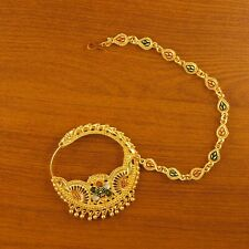 Traditional Gold Plated Nath Indian Jewelry 18K Bridal Wedding Women Nose Ring