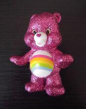 Care Bears & Cousins Series 4 Cheer Glitter Bear Mini Figure RARE HARD TO FIND