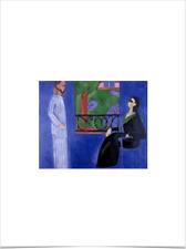 HENRI MATISSE BLUE CONVERSATION LIMITED EDITION BIG BORDERS ART PRINT 18X24