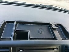 VW T5 TRANSPORTER 2003 to 2009 -Coin tray BLK/White stitch. LEATHER INSERTS.